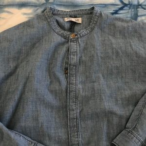 Madewell Chambray button down blouse sz L